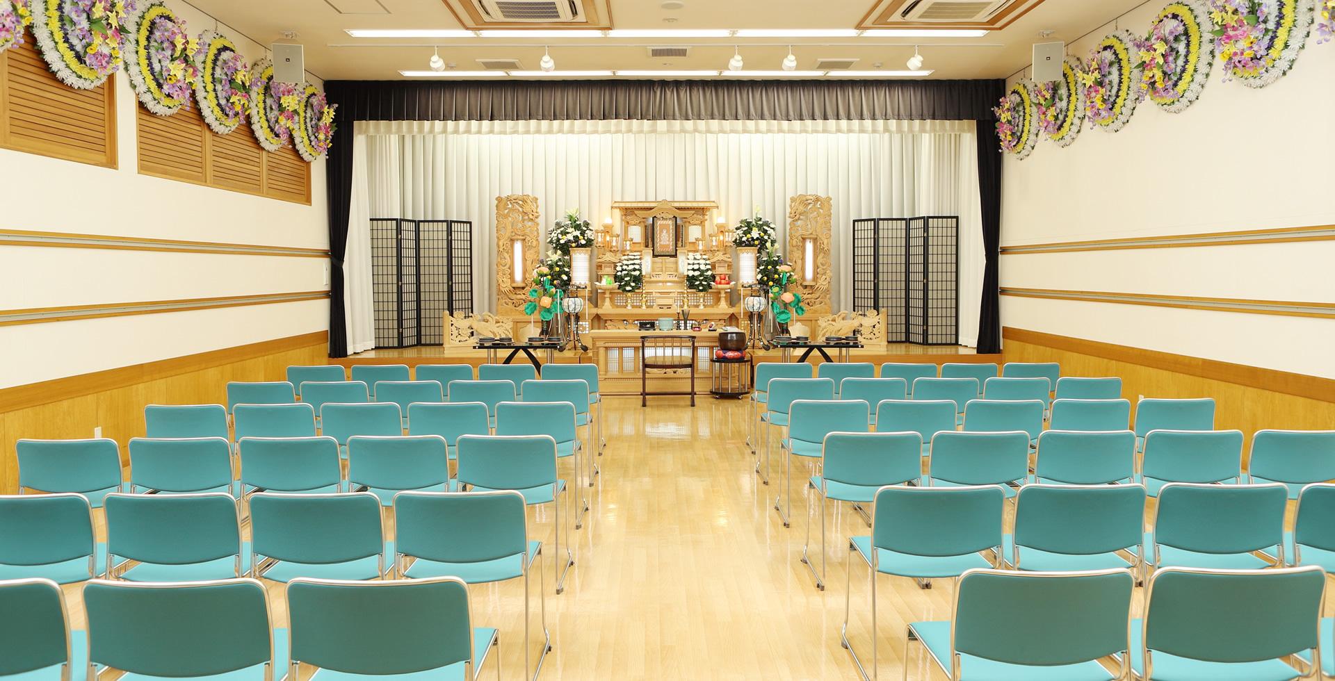 岡山の葬儀社・葬儀場「総社花萬セレモニーホール」葬儀・葬式承ります